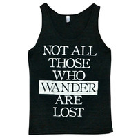 Tri-Blend 'Those Who Wander' Tank Top | Wicked Clothes