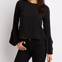 Long Bell Sleeve Top | Charlotte Russe
