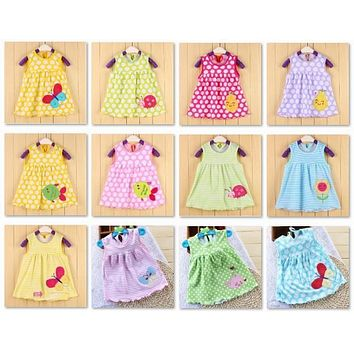 Cartoon Baby Girl Dress infant dresses Toddler T-Shirts summer Jumpers Bebe Girls Dresses Tutu Dress Outfits