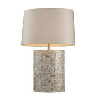 Dimond D1413 Trump Home Sunny Isles Real Mother of Pearl Table Lamp