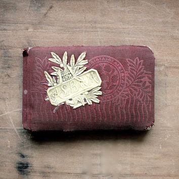Filled With Memories  Antique 1890 Autograph Album  by becaruns
