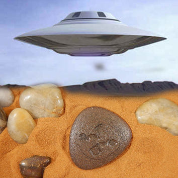 Roswell Rock, Roswell Stone, Alien Rock, Alien Stone, UFO Rocks, Alien Artifact, Ancient Aliens Rock, Crop Circle Stone, Crop Circles, Alien
