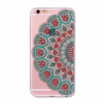 Turquoise & Red Hearts Mandala Boho Case for iPhone 5 5s SE 6 6s