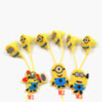 Cartoon 2014 new Despicable Me The Minion Style Headphones noise isolating Earphone In-ear EarPod Headset without Retail Package - Default
