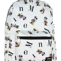 Disney Minnie Mouse Backpack Letters Print