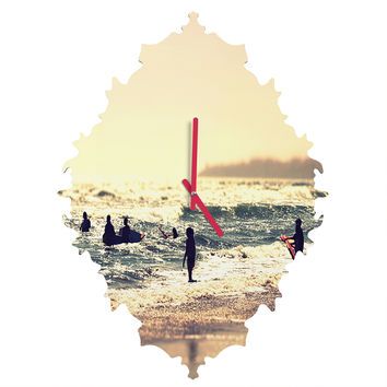 Shannon Clark Sunset Surfers Baroque Clock