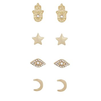 Ear Candy Stud Set - Celestial Crystals