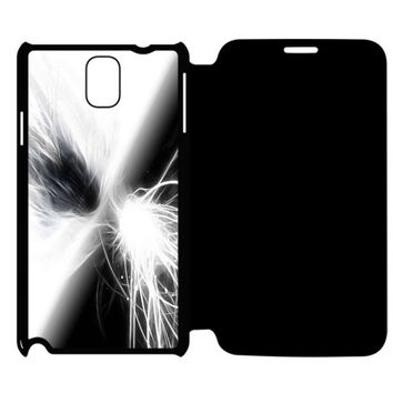 White Glow Abstract Samsung Galaxy Note 4 Flip Case Cover
