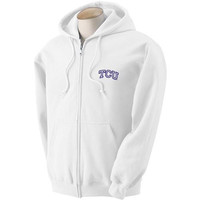 Texas Christian Horned Frogs NCAA Outline Arch Logo FullZip Hooded Fleece (Small)