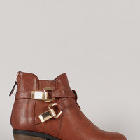 Perry Cirss Cross Cowboy Ankle Bootie