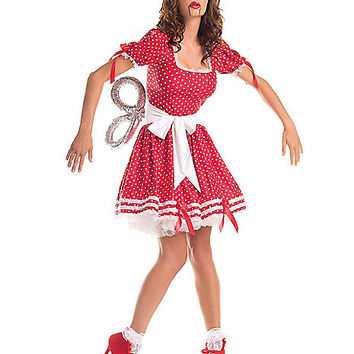Adult Wind Up Doll Costume - Spirithalloween.com