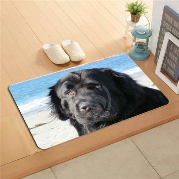 Autumn Fall welcome door mat doormat W530L24 Custom newfoundland dog Watercolor Painting   Home Decor  Floor Mat Bath Mats foot pad #F23 AT_76_7