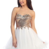 Winter Formal Dresses, Short Dress, Sexy and Flirty, Jeweled Bustline, Dreamy Cocktail Dress from Sung Boutique Los Angeles, Category New Arrivals