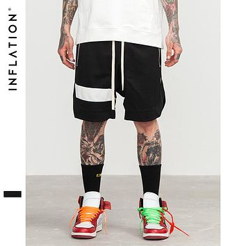 Men Shorts Hip Hop Clothing Streetwear Draw Rope Zipper Jogger Shorts Mesh Pocket Tide Hip-Hop Shorts