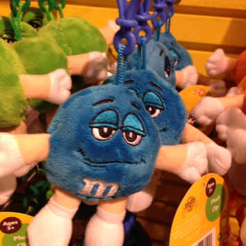 M&M's World Blue Character Keychain Plush New with tags