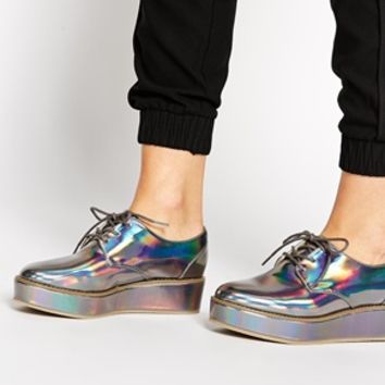 ASOS MUSTER Flatform Lace Up Shoes