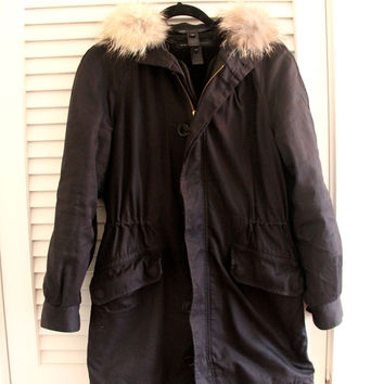 Marc By Marc Marley Twill Coat With Genuine Coyote Fur Collar (Marc by Marc Jacobs)