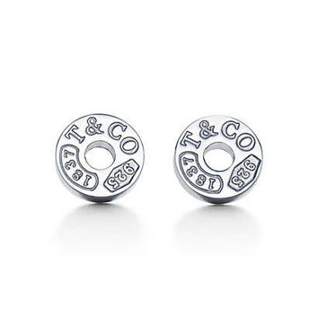 Tiffany & Co. - Tiffany 1837™ circle earrings in sterling silver.