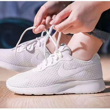 """NIKE"" Fashion Women Running Sport Casual Shoes Sneakers mesh White"