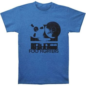 Foo Fighters Men's  Reel To Reel Royal Heather Mens T Slim Fit T-shirt Heather Royal