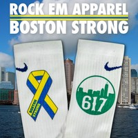 """Boston Strong"" Benefit Socks 