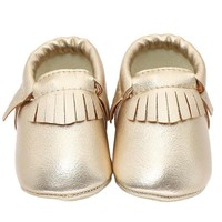 Baby Moccasin Newborn Baby Shoes Soft Bottom