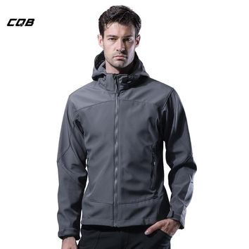CQB Outdoor Sports Camping Tactical Military Men's Hiking Softshell Jackets Waterproof Climbing Winter Male Clothes Hunting Coat