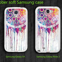 Dream catcher Soft Samsung Galaxy S4 i9500 Case  Samsung Galaxy note II case  note 2 case 7100 case  unique Case