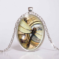 Pendant with Chain - Dragonfly 4