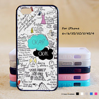 Okay Okay Phone Case For iPhone 6 Plus For iPhone 6 For iPhone 5/5S For iPhone 4/4S For iPhone 5C iPhone X 8 8 Plus