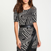 Wrap Tribal Leatherette Dress