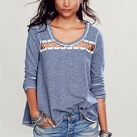 Free People Womens Criss Cross Pullover