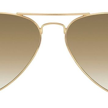 Cheap Ray-Ban Aviator Gold Metal Frame Sunglasses, 58 mm outlet