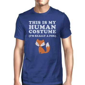 This Is My Human Costume Fox Mens Royal Blue Shirt