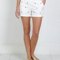Women's Shorts: Starfish Embroidered Dayboat Shorts for Women - Vineyard Vines
