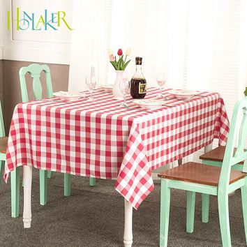 Honlaker Modern Minimalist Style Square Plaid Tablecloth Home Decoration Table Cloth