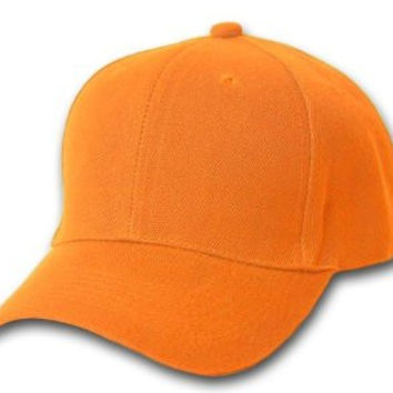 Orange Hard Cotton Baseball Cap