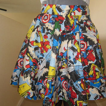 Marvel Comic Skirt by ComicallyCute on Etsy