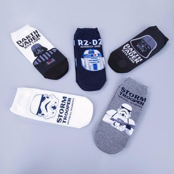1pair Star Wars men socks High Quality New Arrival Patterns Cotton Casual Socks Men's Brand Meias Party Novelty Funny Party sock