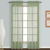 United Curtain Co. Monte Carlo Voile Window Panel Pair - 59'' x 63''
