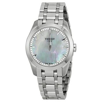 Tissot Couturier Mother of Pearl Dial Stainless Steel Ladies Watch