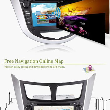 "Android 5.1 Capacitive Multi-Touch Screen 3D GPS Receiver In Dash Audio Car Video BT Audio Auto radio Car Stereo CD DVD Player System Head Unit PC 7""Inch Aux high quality Rear View Camera"