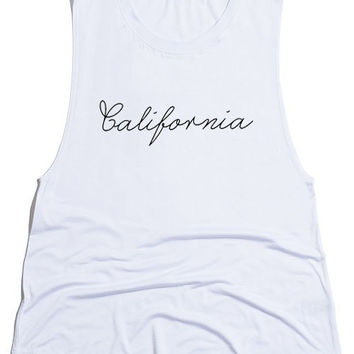 California Handwritten Tank Top