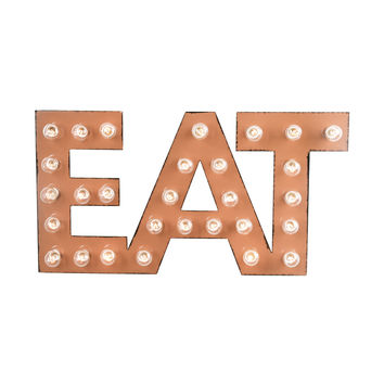 EAT Marquee Sign