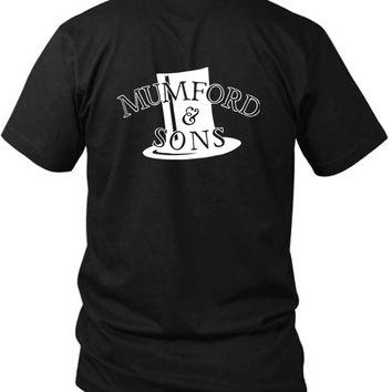 Mumford And Sons Hat Fan Art Black And White 2 Sided Black Mens T Shirt