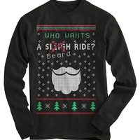 Beard Ride Ugly Christmas Sweater