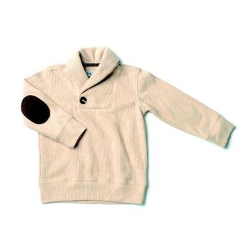 Gingerbread Corduroy Fleece Shawl Collar Sweater Pullover Kapital K  Cool Trendy Boys Fall 2013 - The Couture Baby