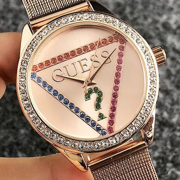 GUESS Woman Men Fashion Diamonds Quartz Classic Wristwatch Watch