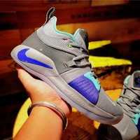 Nike PG2 Gray/Green Basketball Shoe