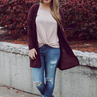 Lost Lake Cardigan - Burgundy